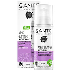 Sante Organic Instantly Smoothing Night Cream  Hyaluronic Acid & Paracress  50ml