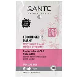 Sante Organik Nemlendirici Maske (Kuru Ciltler, Inca Inchi Yağı & Shea Butter) 2x4ml