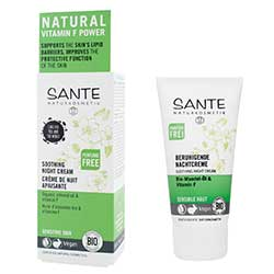 Sante Organik Yatıştırıcı Gece Kremi (Hassas Ciltler, Badem Yağı & F Vitaminli) 50ml