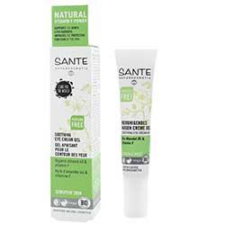 SANTE Organik Yatıştırıcı Göz Bakım Kremi (Hassas Ciltler, Badem Yağı & F Vitaminli) 15ml