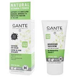 SANTE Organik Yatıştırıcı Gündüz Kremi (Hassas Ciltler, Badem Yağı & F Vitaminli) 50ml