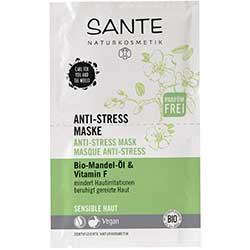 SANTE Organik Yatıştırıcı Maske (Hassas Ciltler, Badem Yağı & F Vitaminli) 2x4ml