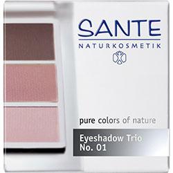 SANTE Organik Göz Farı (Trio-3 Renk) (01 Gül)