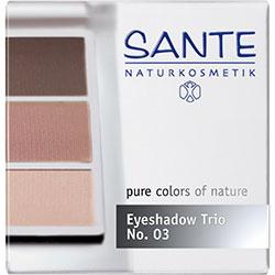 SANTE Organik Göz Farı (Trio-3 Renk) (03 Gül Ağacı)