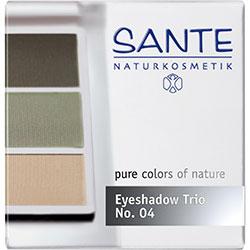 SANTE Organik Göz Farı (Trio-3 Renk) (04 Doğal Yeşil)