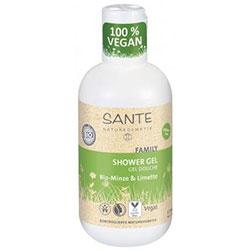 SANTE Organik Duş Jeli (Aile Serisi, Nane & Misket Limonlu) 200ml