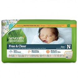 Seventh Generation Bebek Bezi - Yeni Doğan (4,5 Kg