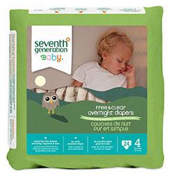 Seventh Generation Bebek Bezi - 4 Gece Boyu (10.0 kg ve üstü) 24 Adet