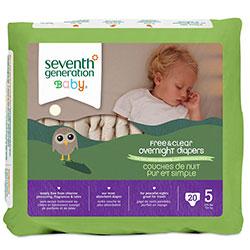 Seventh Generation Bebek Bezi - 5 Gece Boyu (12.2 kg ve üstü) 20 Adet
