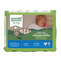 Seventh Generation Bebek Bezi - 6 Gece Boyu (15.9 kg ve üstü) 17 Adet