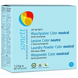 Sonett Organik Renkli Çamaşır Yıkama Tozu  COLOR Hassas Kokusuz Sensitive  1 2kg