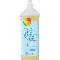 Sonett Organik Yünlü ve İpekliler İçin Zeytinli Yıkama Sıvısı (Hassas Kokusuz Sensitive) 1L