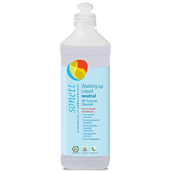 Sonett Organik Bulaşık ve Çok Amaçlı Yıkama Sıvısı (Hassas Kokusuz Sensitive) 500ml