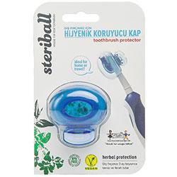 Steriball Diş Fırçası Koruyucu Hijyenik Kap (Mavi)