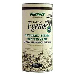 Tardaş Egenin Organik Sızma Zeytinyağı (Soğuk Sıkım) 850ml (Teneke)