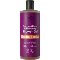 Urtekram Organik Duş Jeli  Nordic Berries  Yabanmersini & Kızılcık  500ml