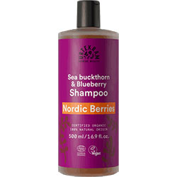 Urtekram Organik Onarıcı Şampuan (Nordic Berries, Normal Saçlar, Yabanmersini & Kızılcık) 500ml