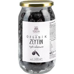 Yerlim Organik Salamura Siyah Zeytin 600g