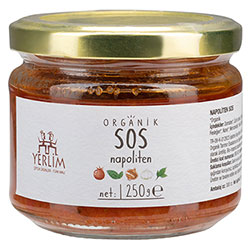 Yerlim Organik Napolitan Sos 250gr
