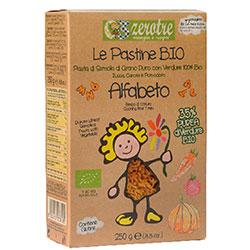 Zerotre Organik Sebzeli Makarna (Balkabağı, Havuç, Domates) (Alfabe, Alfabeto) 250g